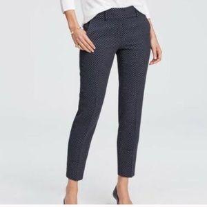 Ann Taylor Kate Geo dress pants navy blue 4